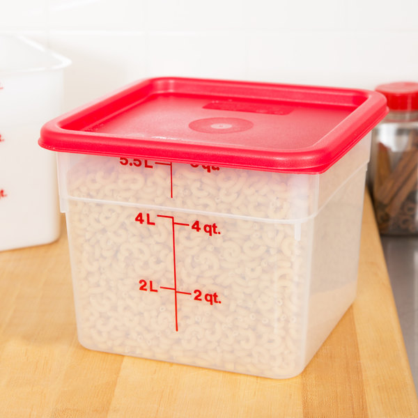 Cambro 6sfspp190 6 Qt Translucent Square Food Storage
