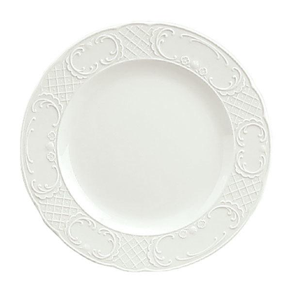 schonwald 9060025 marquis 10 continental white porcelain plate 6 case webstaurantstore