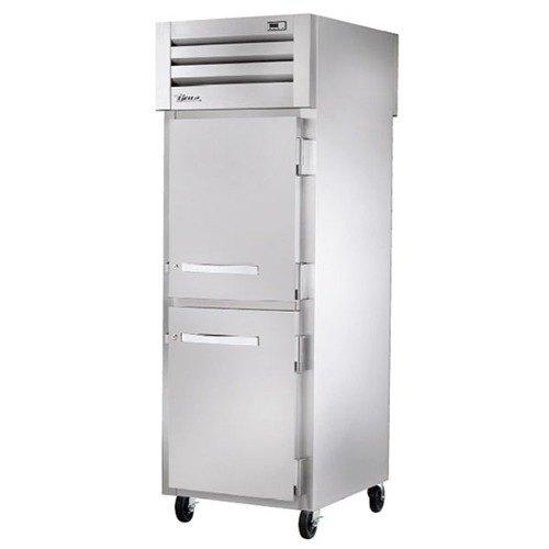 True STA1RPT-2HS-1G Specification Series Pass-Through Solid Half Front Door / Rear Glass Door Refrigerator - 31 Cu. Ft.
