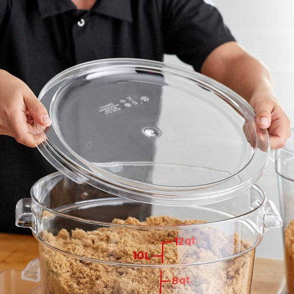 Snap-on lid for food storage container
