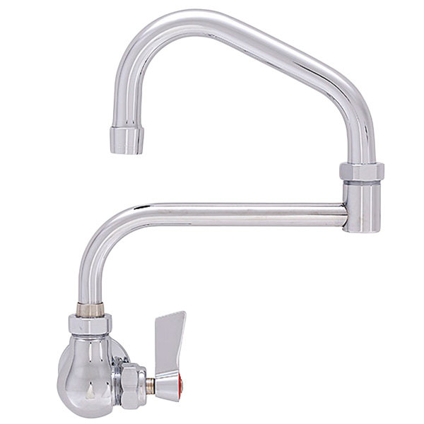 """Fisher 19933 Backsplash Mounted Faucet with 13"""" Double-Jointed Swing Nozzle, 2.2 GPM Aerator, and Lever Handle"""