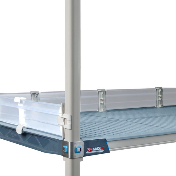 """Metro MXLS18-4P MetroMax i Clear Shelf Ledge - 18"""" x 4"""" Main Image 1"""