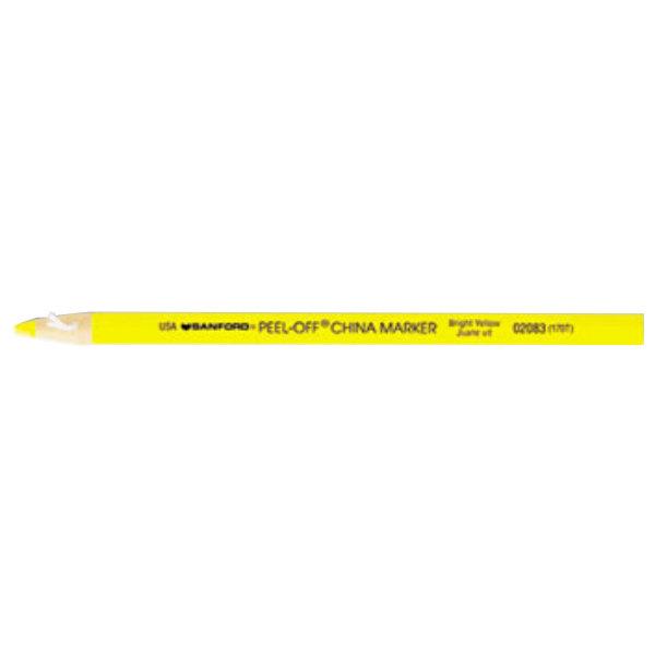 Sharpie 2083 Peel-Off Yellow China Marker - 12/Pack