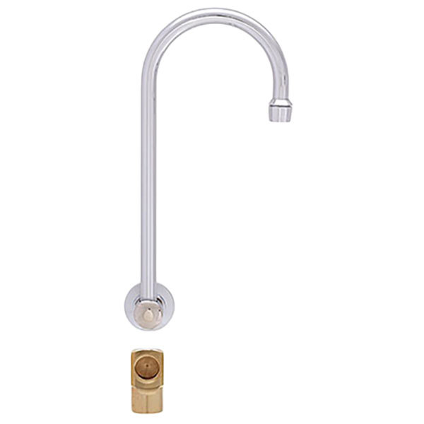 """Fisher 21199 Backsplash Mounted Faucet with 12"""" Rigid Gooseneck Nozzle, 2.2 GPM Aerator, and Elbow"""