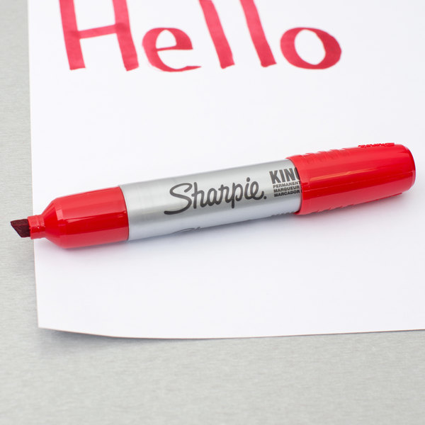 Red Chisel Tip Pack of 12 Sharpie Marker Pen