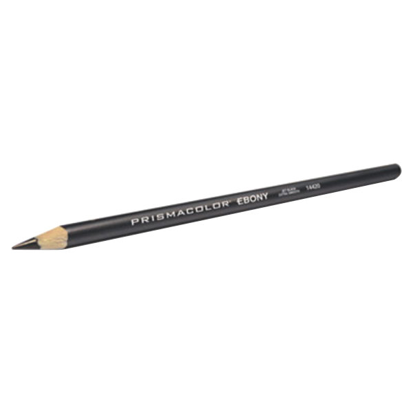 Prismacolor 14420 Design EBONY Black Matte Woodcase Barrel 4mm Soft Lead Sketching Pencil - 12/Pack