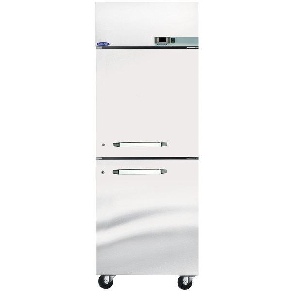 "Nor-Lake NR242SSS/0X Nova 27 1/2"" Solid Half Door Reach-In Refrigerator - 24.1 Cu. Ft."