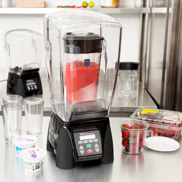 Waring MX1500XTX Xtreme 3 1/2 hp Commercial Blender with Programmable Keypad & LCD Screen, Adjustable Speed, and 64 oz. Copolyester Container Main Image 6
