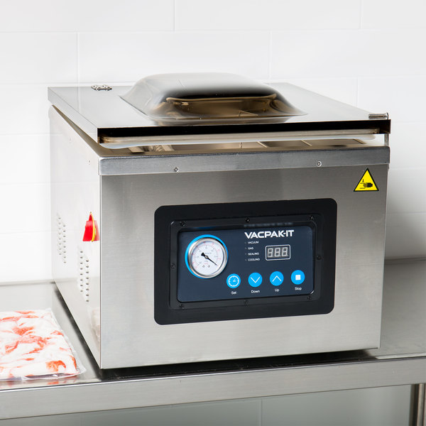 """VacPak-It VMC32 Chamber Vacuum Packaging Machine with Two 16"""" Seal Bars and Oil Pump Main Image 5"""