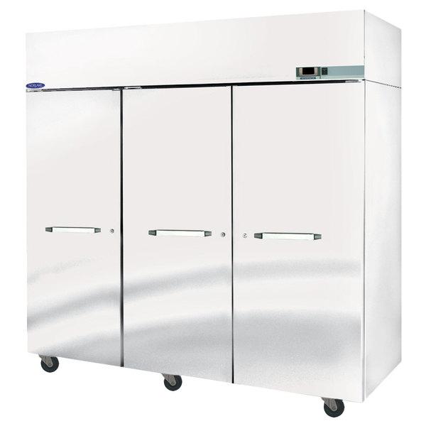 """Nor-Lake NF803SSS/0 Nova 82 1/2"""" Solid Door Reach-In Freezer - 79.9 Cu. Ft."""