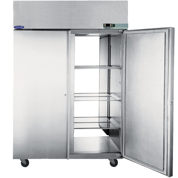"Nor-Lake PR524SSS/0X Nova 55"" Solid Door Pass-Through Refrigerator - 55.7 Cu. Ft."