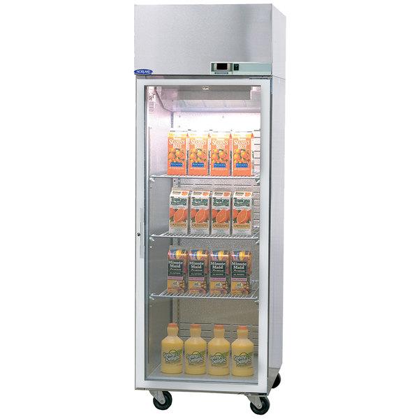 "Nor-Lake NR242SSG/0 Nova 27 1/2"" Glass Half Door Reach-In Refrigerator - 24.1 Cu. Ft."