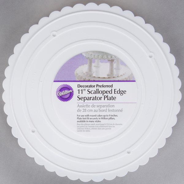 Wilton 302-11 Decorator Preferred Round Scalloped Edge Cake Separator Plate - 11  & Wilton 302-11 Decorator Preferred Round Scalloped Edge Cake ...