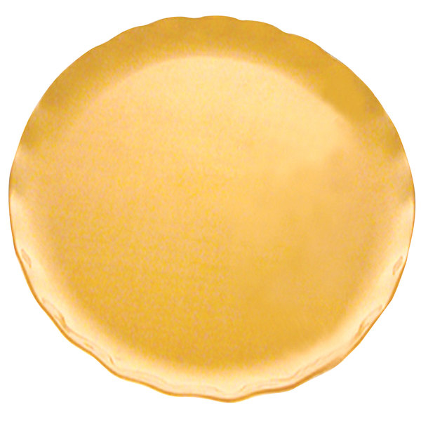 """Thunder Group RF1016G 16"""" Gold Pearl Plate - 2/Pack"""