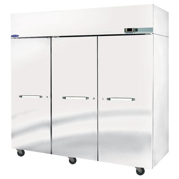 "Nor-Lake PR806SSS/0X Nova 82 1/2"" Solid Door Pass-Through Refrigerator - 85.8 Cu. Ft."