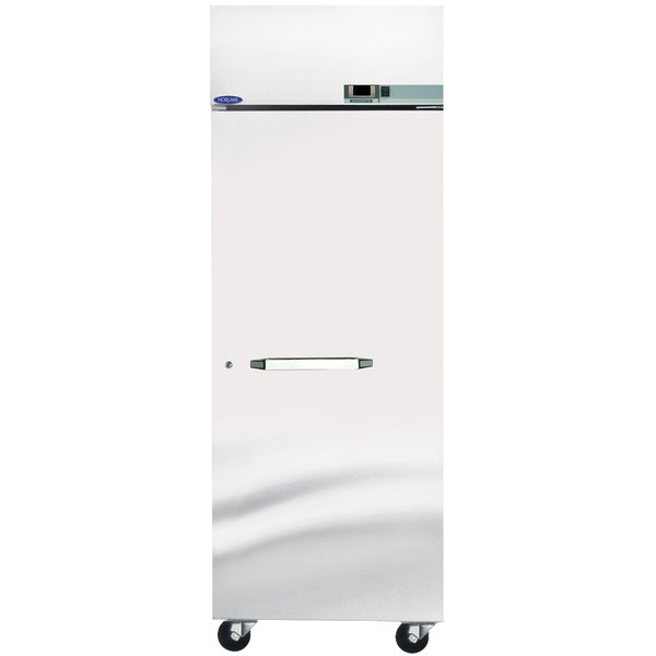 "Nor-Lake PR242SSS/0X Nova 27 1/2"" Solid Door Pass-Through Refrigerator - 25.6 Cu. Ft."