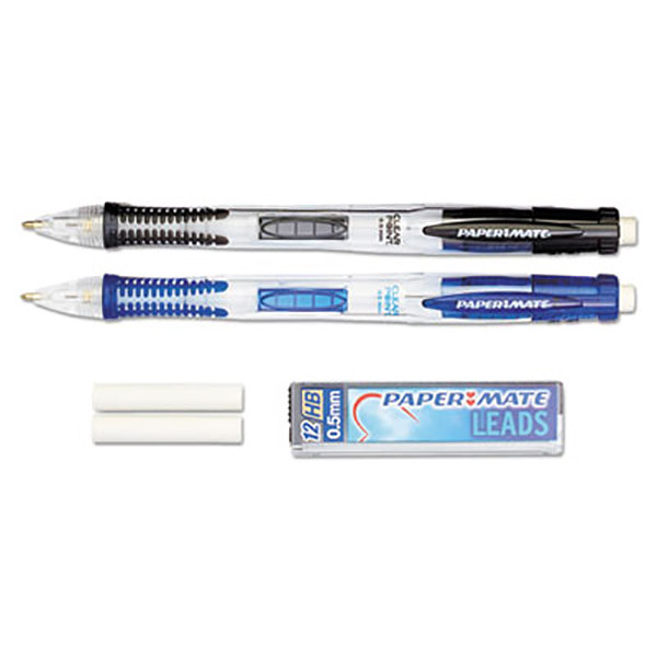 paper mate 34666pp assorted barrel color 0 5mm clear point hb lead