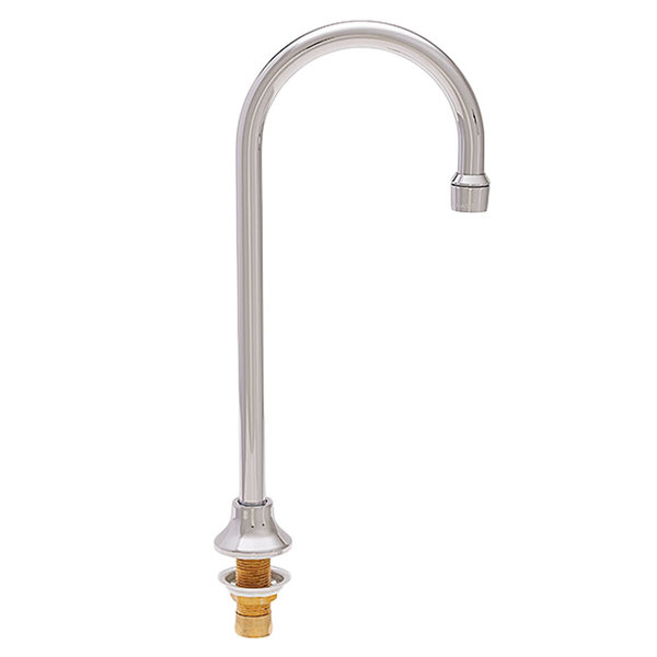 "Fisher 1937 Deck Mounted Faucet with 6"" Rigid Gooseneck Nozzle and 2.2 GPM Aerator"