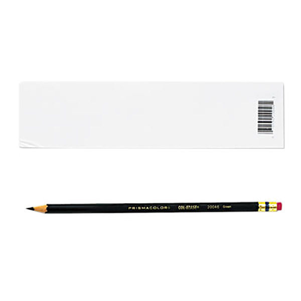 Prismacolor 20046 Col-Erase Green Woodcase Barrel 0.7mm Soft Lead Green Colored Pencil with Eraser - 12/Pack