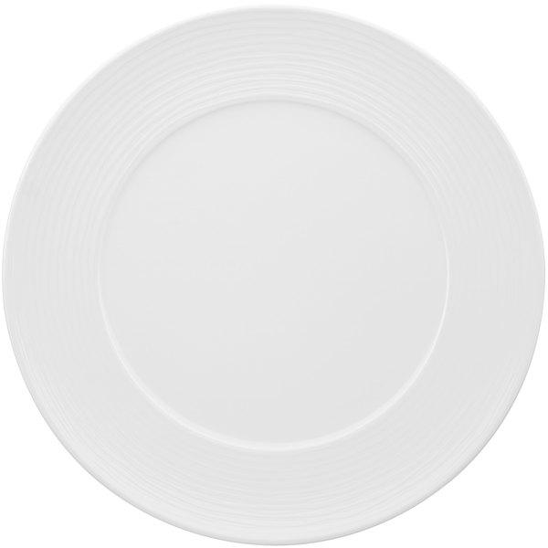 """Villeroy & Boch 16-3356-2590 Sedona 12 5/8"""" White Porcelain Plate - 6/Case"""