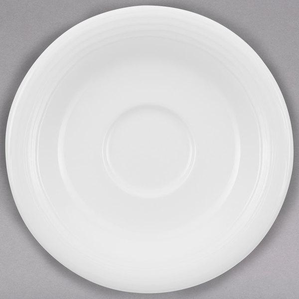"Villeroy & Boch 16-3356-1460 Sedona 5 1/8"" White Porcelain Saucer - 6/Case"