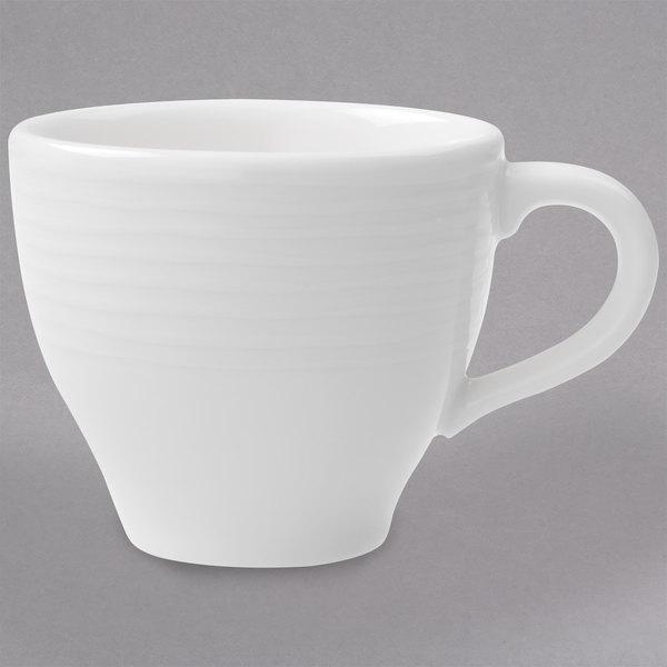 Villeroy & Boch 16-3356-1450 Sedona 2.75 oz. White Porcelain Cup - 6/Case