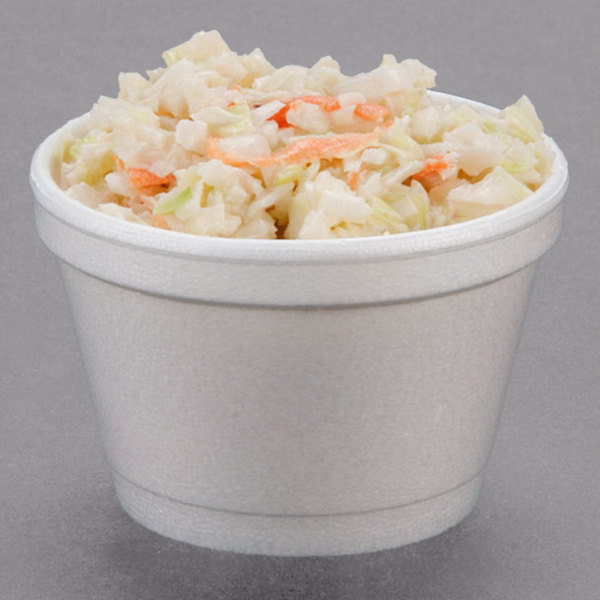 Dart 3.5J6 3.5 oz. White Foam Food Container - 50/Pack Main Image 3