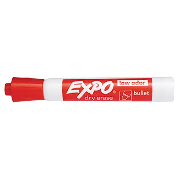 Expo 82002 Red Low-Odor Bullet Tip Dry Erase Marker - 12/Pack
