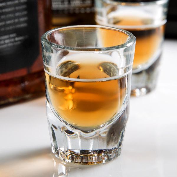Anchor Hocking 5282/928U 2 oz. Whiskey / Shot Glass with 1 oz. Cap Line - 12/Pack