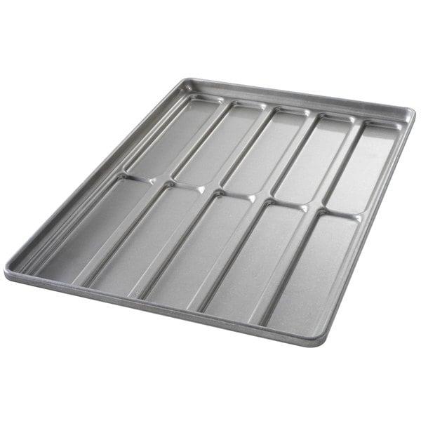 Chicago Metallic 41052 10 Mold Glazed Customizable Blunt End Hoagie Bun Pan