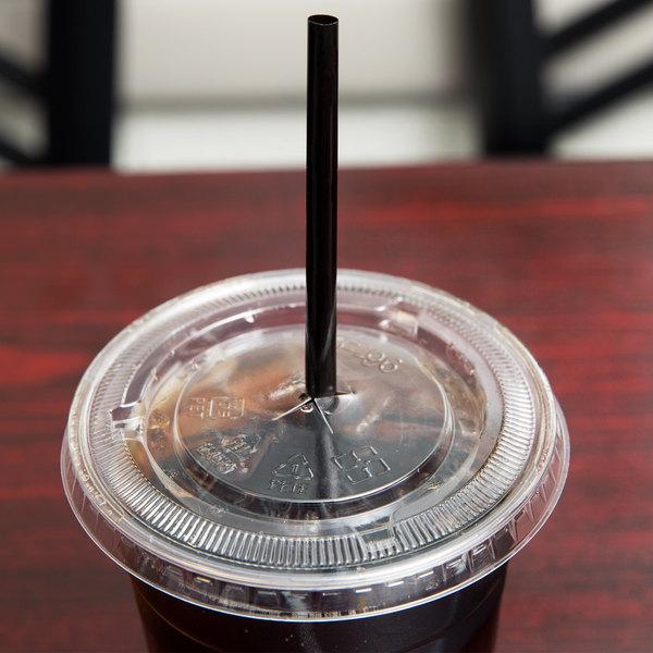 "Choice 7 3/4"" Jumbo Black Wrapped Straw - 12000/Case"