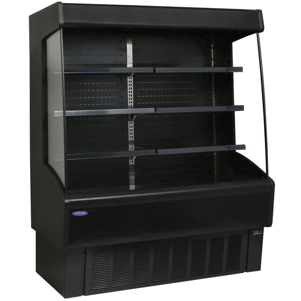 "Nor-Lake NLVOAM36-79-B Nova Black 36"" Air Curtain Merchandiser"