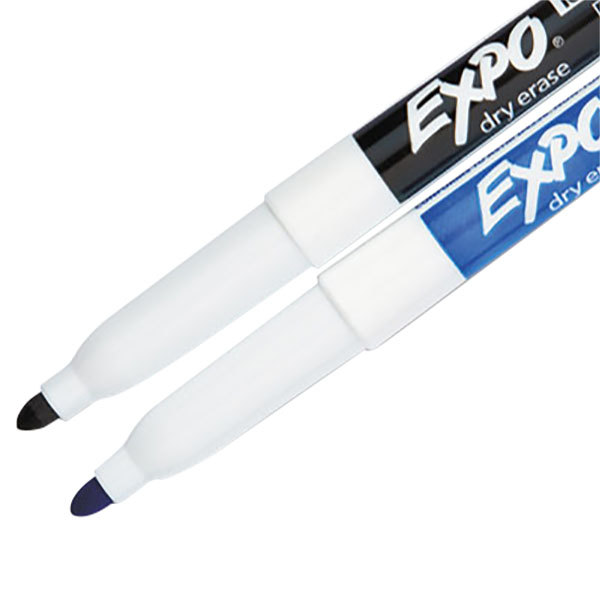 Expo 1802768 Assorted 2-Color Fine Point Dry Erase Marker