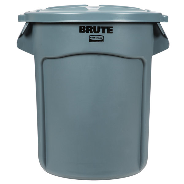 Rubbermaid BRUTE 20 Gallon Gray Trash Can and Lid