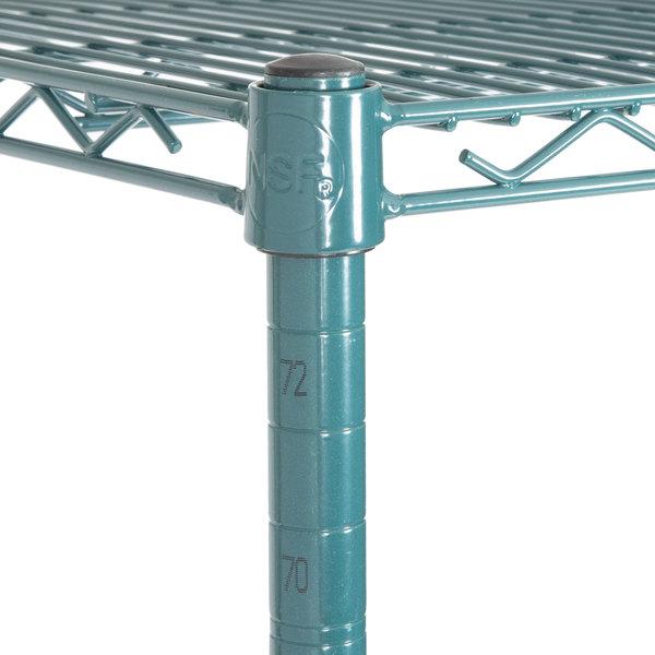 Heavy Duty 18 x 48 x 74 Green Epoxy Wire Shelf Rack Commercial | eBay