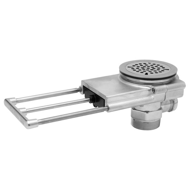 """T&S B-3992-01 Modular Pull Waste Valve with Overflow Assembly - 3 1/2"""" Sink Openings Main Image 1"""
