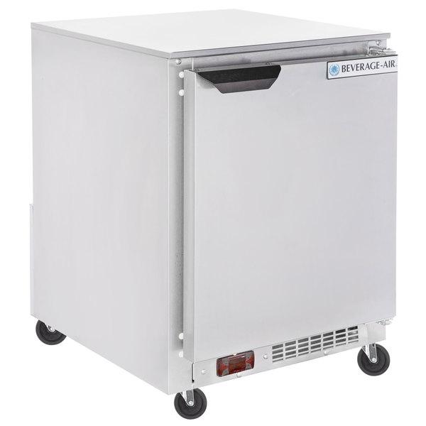 "Beverage-Air UCR20Y 20"" Shallow Depth Low Profile Undercounter Refrigerator"