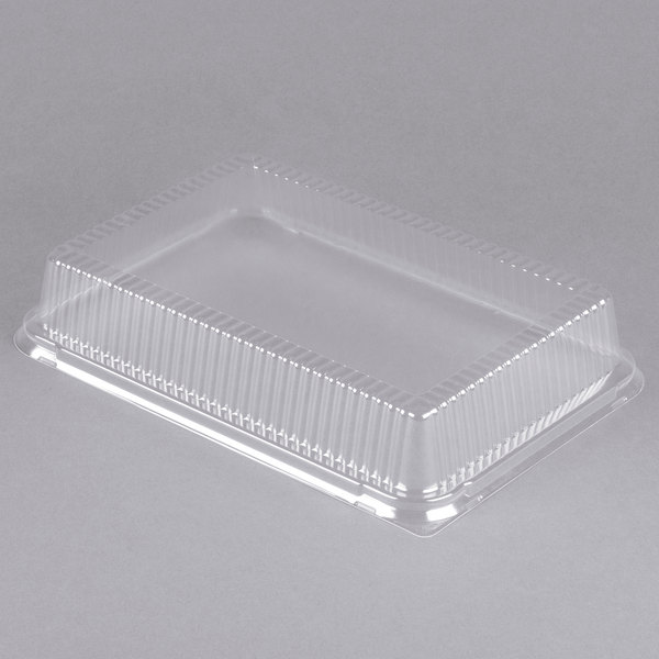 Durable Packaging High Dome Plastic Cover for 1/4 Sheet Cake Pan - 25/Pack