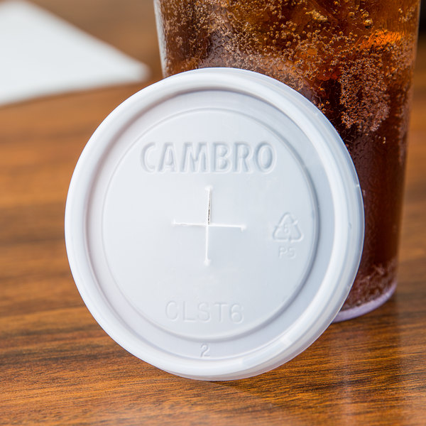 Cambro CLST6 Disposable Translucent Lid - 1000/Case
