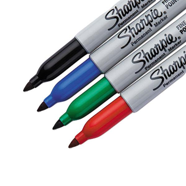 sharpie 30174pp assorted 4 color fine point permanent marker set. Black Bedroom Furniture Sets. Home Design Ideas