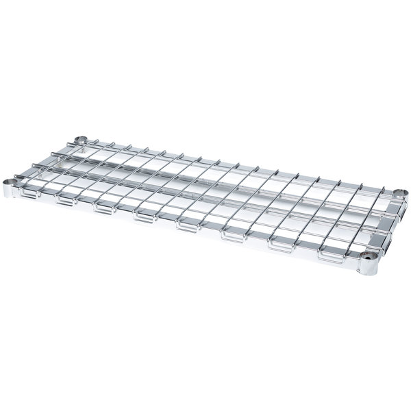 "Metro 1848HDRC HDR Series 18"" x 48"" Chrome HD Super Dunnage Shelf Main Image 1"