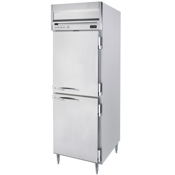 "Beverage-Air HRPS1-1HS Horizon Series 26"" Solid Half Door All Stainless Steel Reach-In Refrigerator"