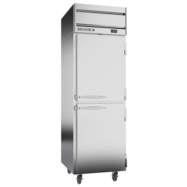 """Beverage-Air HRPS1-1HS Horizon Series 26"""" Solid Half Door All Stainless Steel Reach-In Refrigerator"""