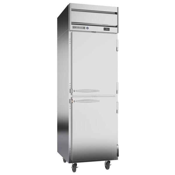 "Beverage-Air HRPS1-1HS Horizon Series 26"" Solid Half Door All Stainless Steel Reach-In Refrigerator Main Image 1"