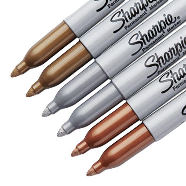 sharpie 1829201 metallic assorted 6 color bullet tip permanent marker set. Black Bedroom Furniture Sets. Home Design Ideas