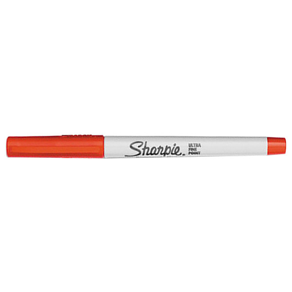 Sharpie 37002 Red Ultra-Fine Point Permanent Marker - 12/Pack