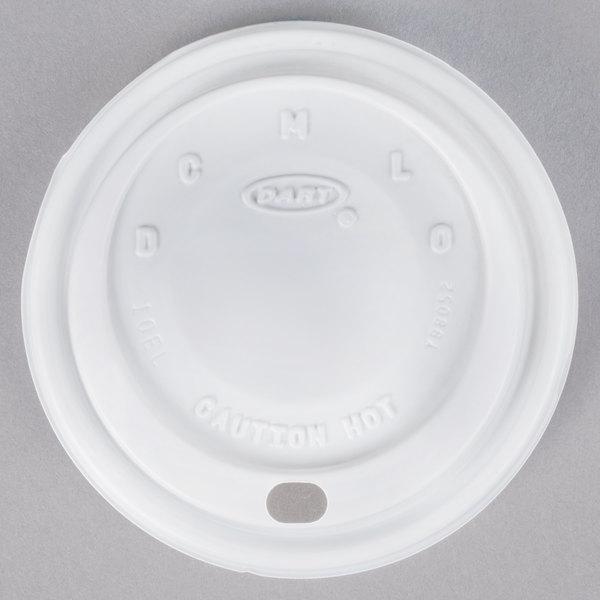 Dart 10EL White Travel Lid - 1000/Case