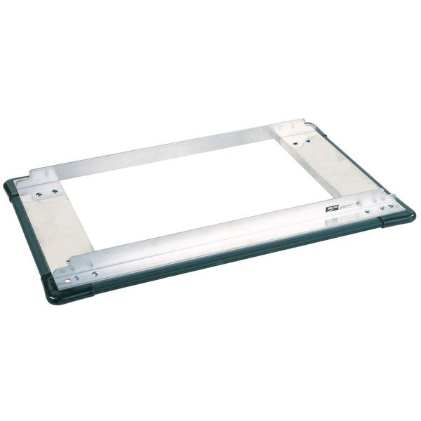 """Metro D2430SP Stainless Steel Truck Dolly Frame with Wraparound Bumper 24"""" x 30"""" Main Image 1"""