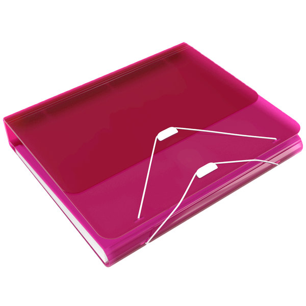 Samsill 10135 DUO Hot Pink 2-in-1 Binder Organizer With 1