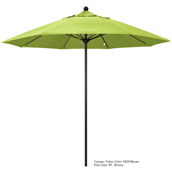 "California Umbrella ALTO 758 SUNBRELLA 2A Venture 7 1/2' Round Push Lift Umbrella with 1 1/2"" Aluminum Pole - Sunbrella 2A Canopy"